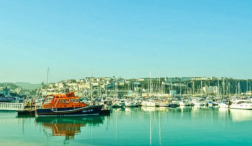 RNLI Lifeboat at Brixham Marina
