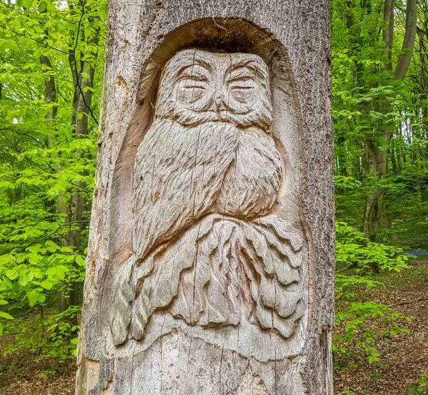 Wood carving art at Linacre reservoir