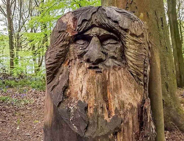 Wood carving at Linacre