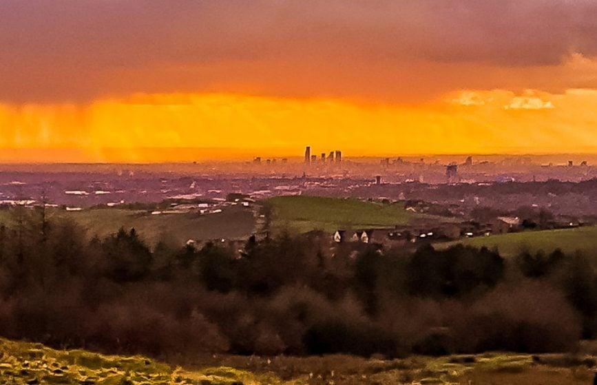 besom hill sunset