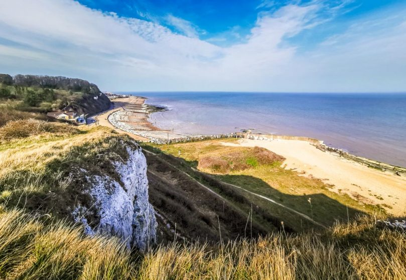 view from the clifftops Kingsdown