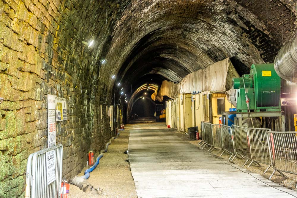 inside queensbury tunnel