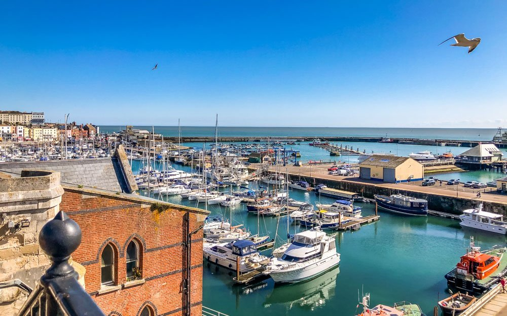 ramsgate harbour from above