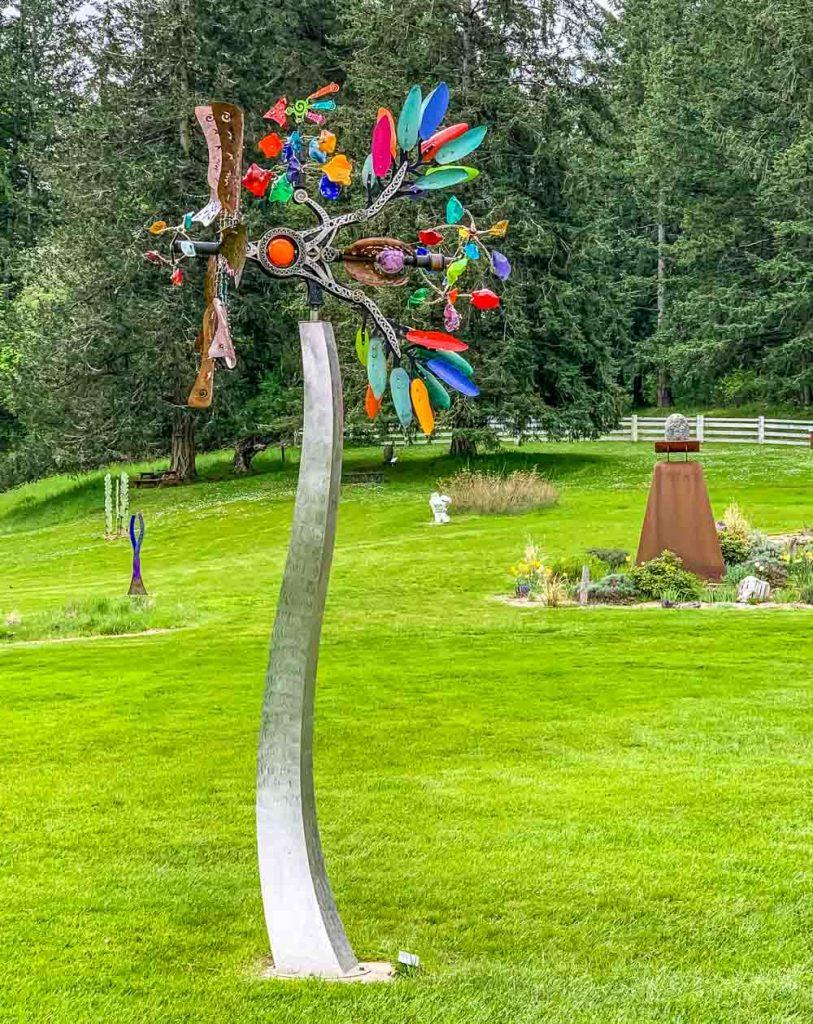 sculpture park tree