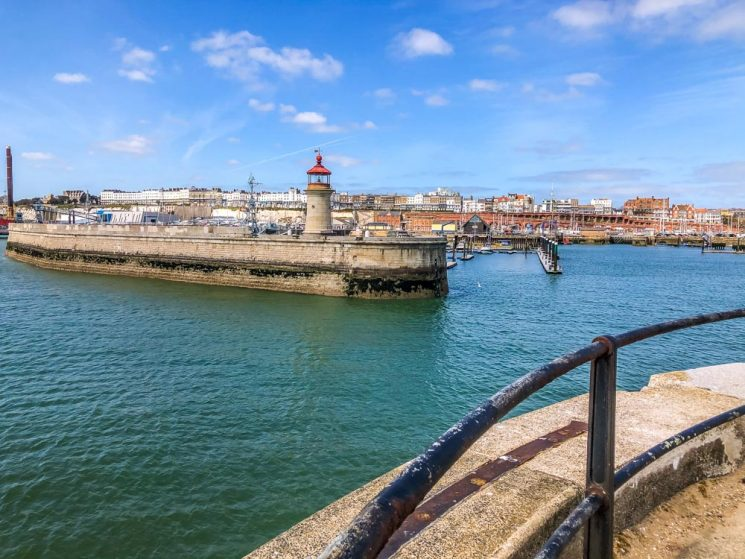 top of the harbour and lighthouse