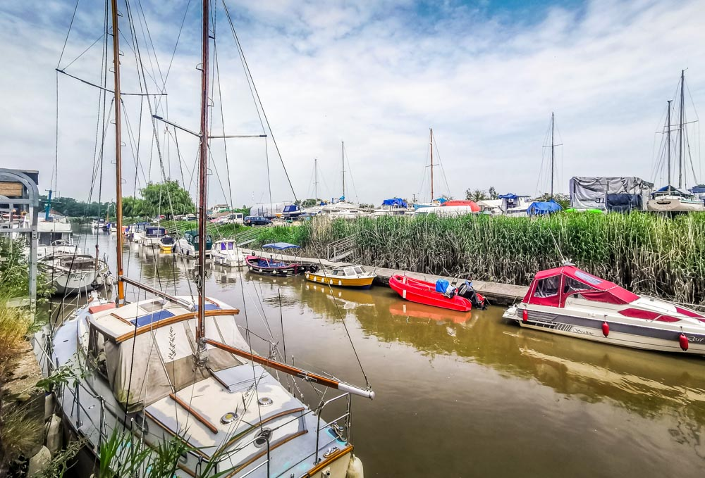 Boats on the River Stour Sandwich