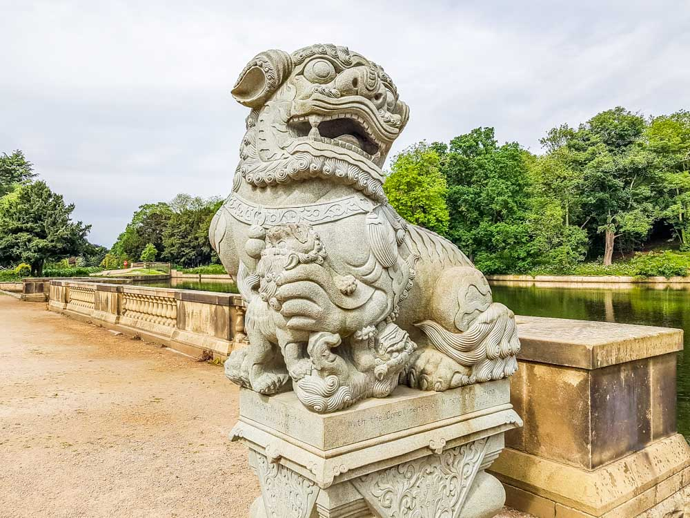 Chinese lion statues from Ningbo City_