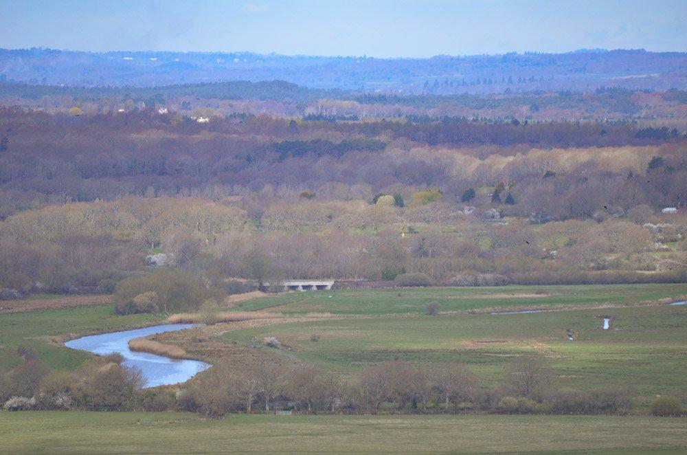 view over Amberley Wild Brooks