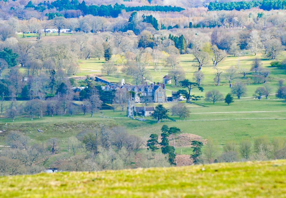 view of Parham House from SDW