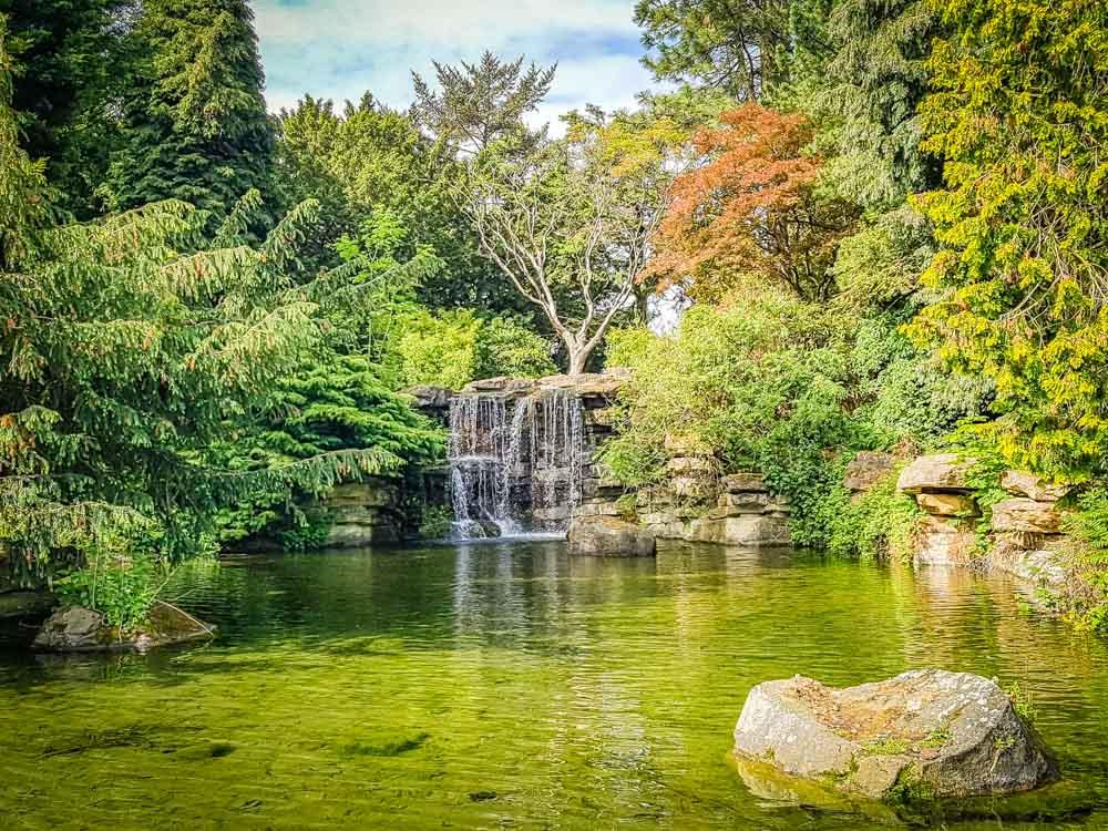 Waterfall at Highfields park Nottingham