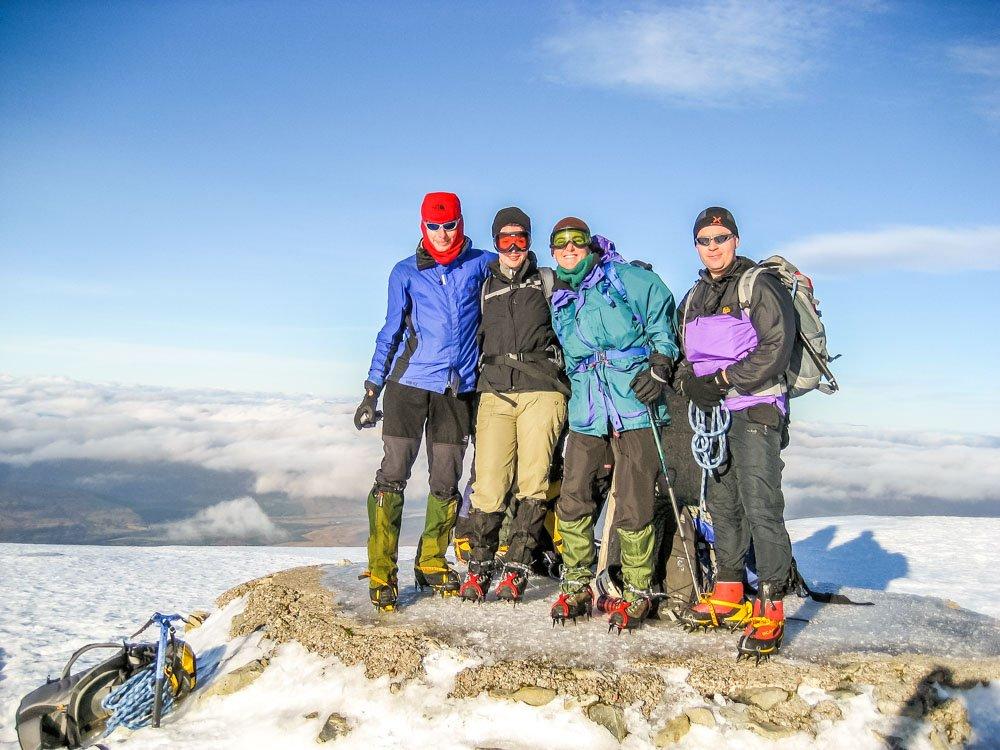 on summit of Ben nevis