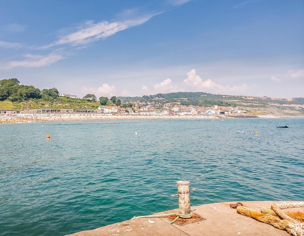 Looking back to Lyme Regis town