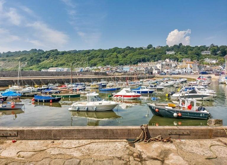 The Seaside Town Of Lyme Regis
