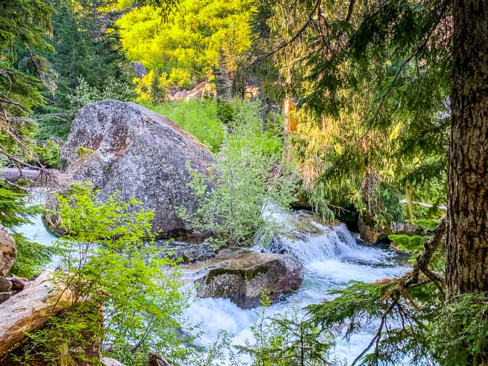 boulder in paradise river