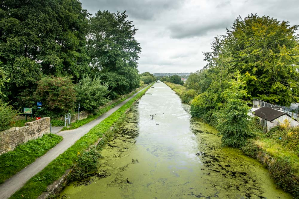 looking along the canal embankment