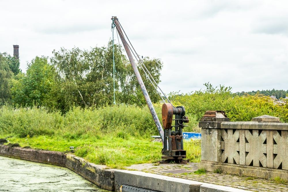 old canal maintenance crane