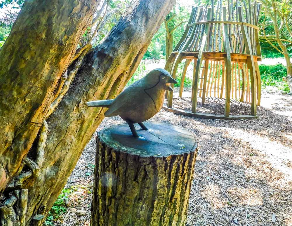 sensory garden wooden sculpture