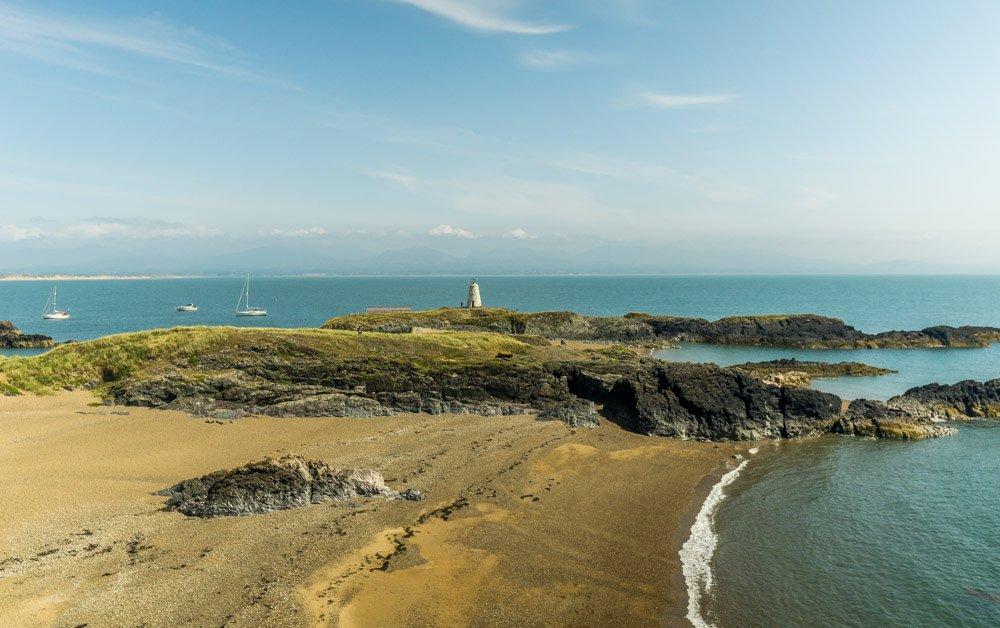 Twr Bach and Caernarfon Bay
