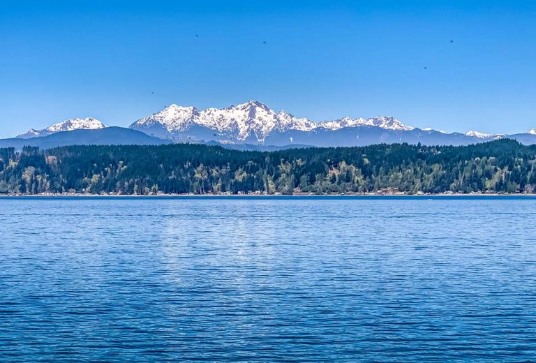 Olympic Mountains across canal