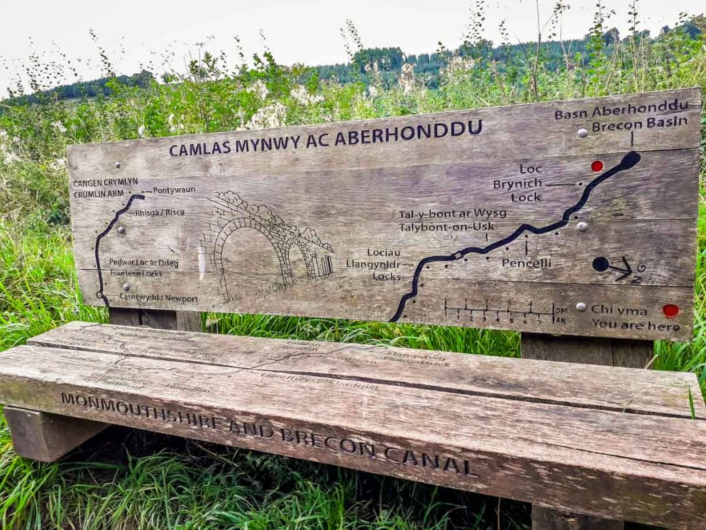 Brecon Canal Carved seat map