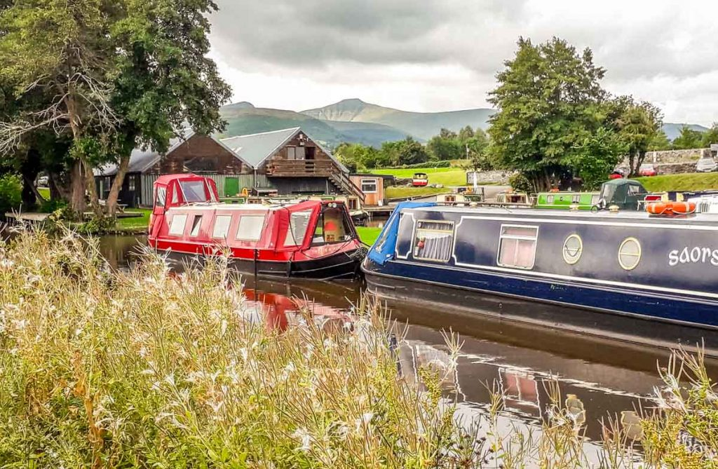 Brecon canal view from Cambrian Cruisers