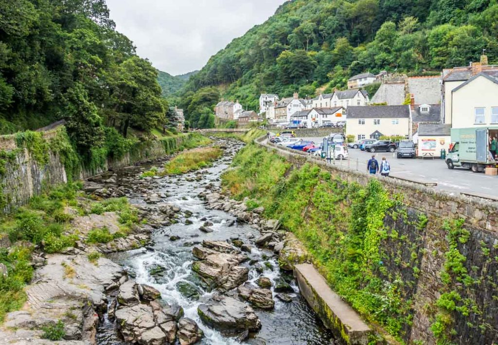 lynmouth and east lyn river