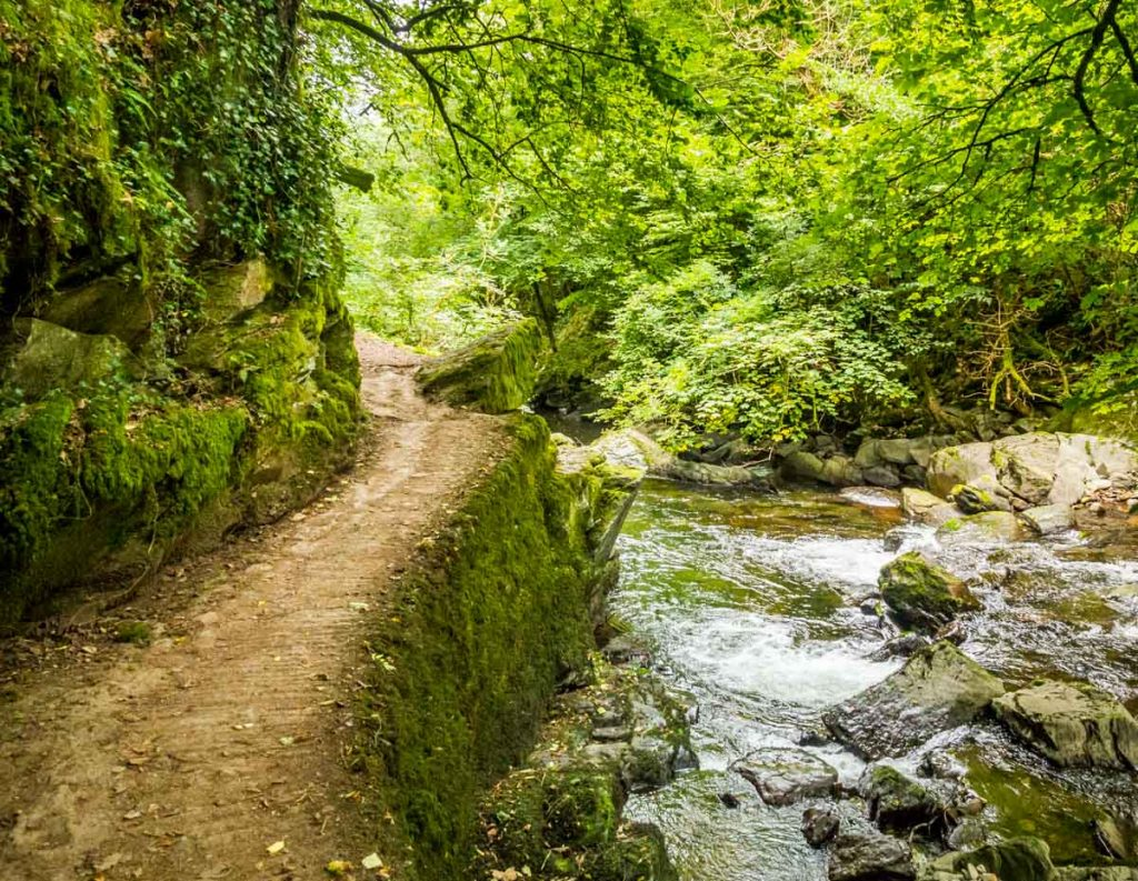 path back to lynmouth