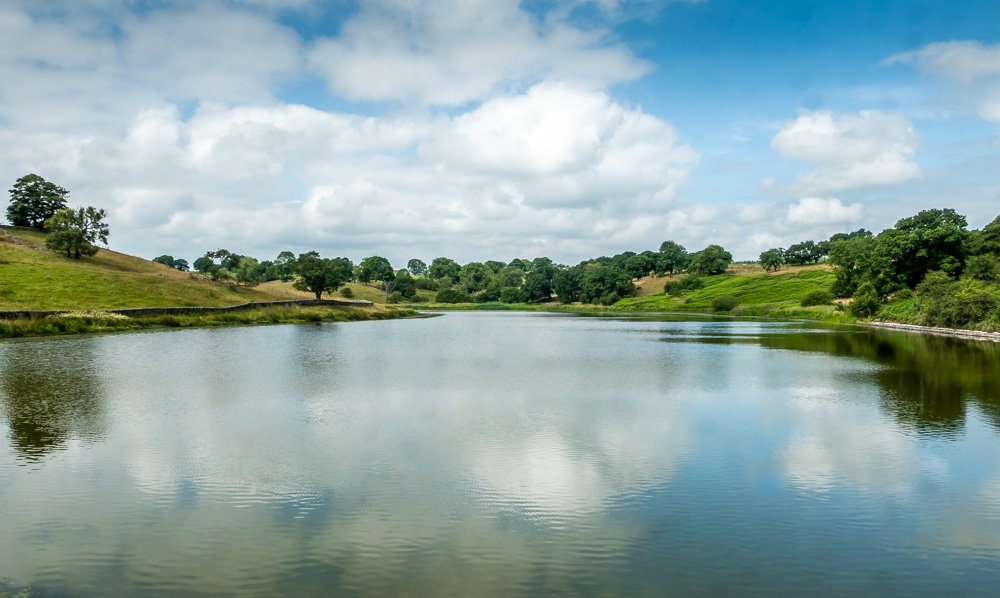 reflection on john o gaunts reservoir