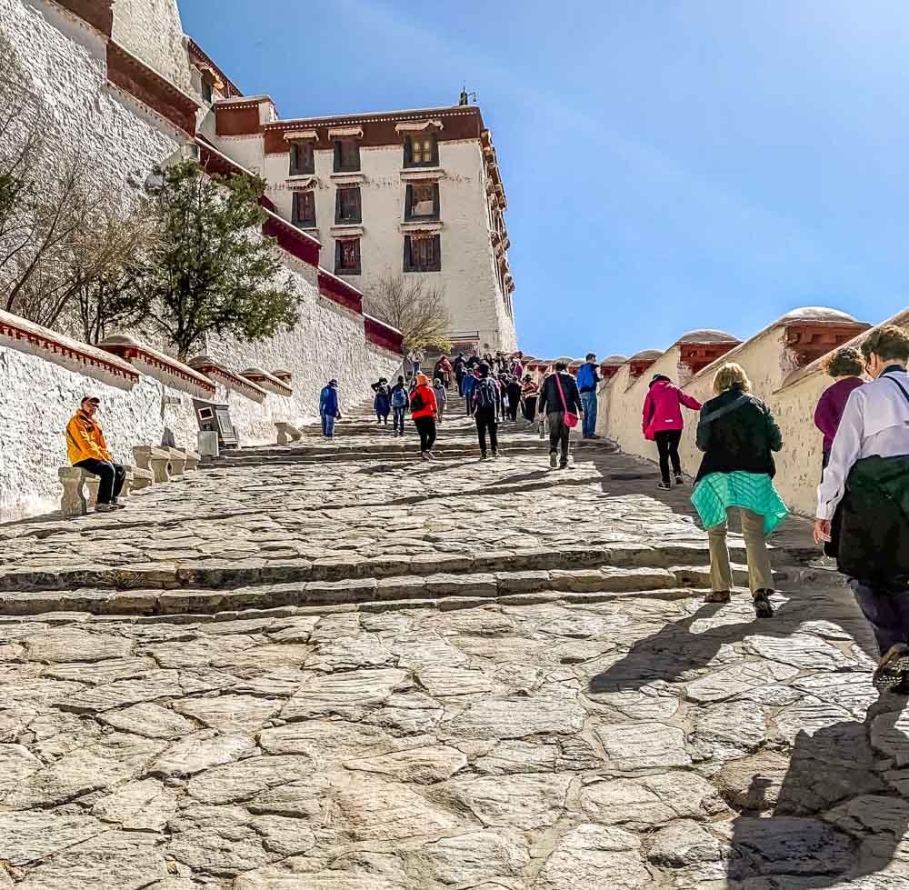 start of climb Portala Palace