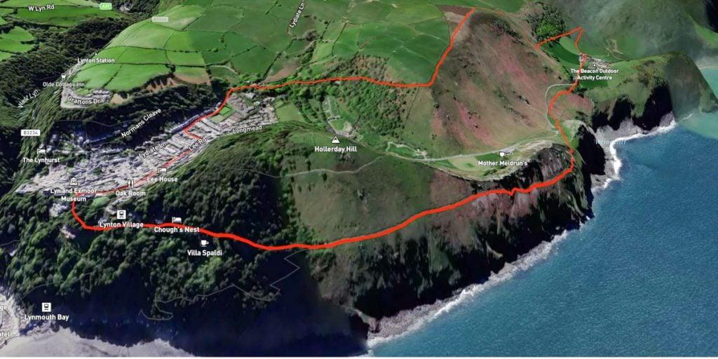 valley of rocks walk map