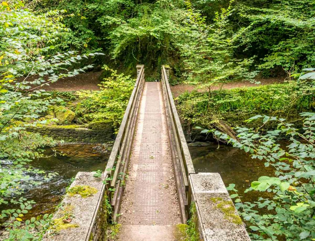 wooden bridge watersmeet