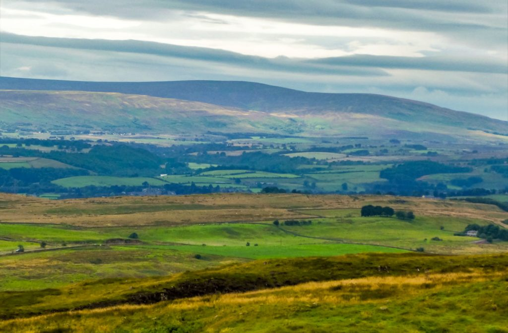 view of scotland from hadrians wall