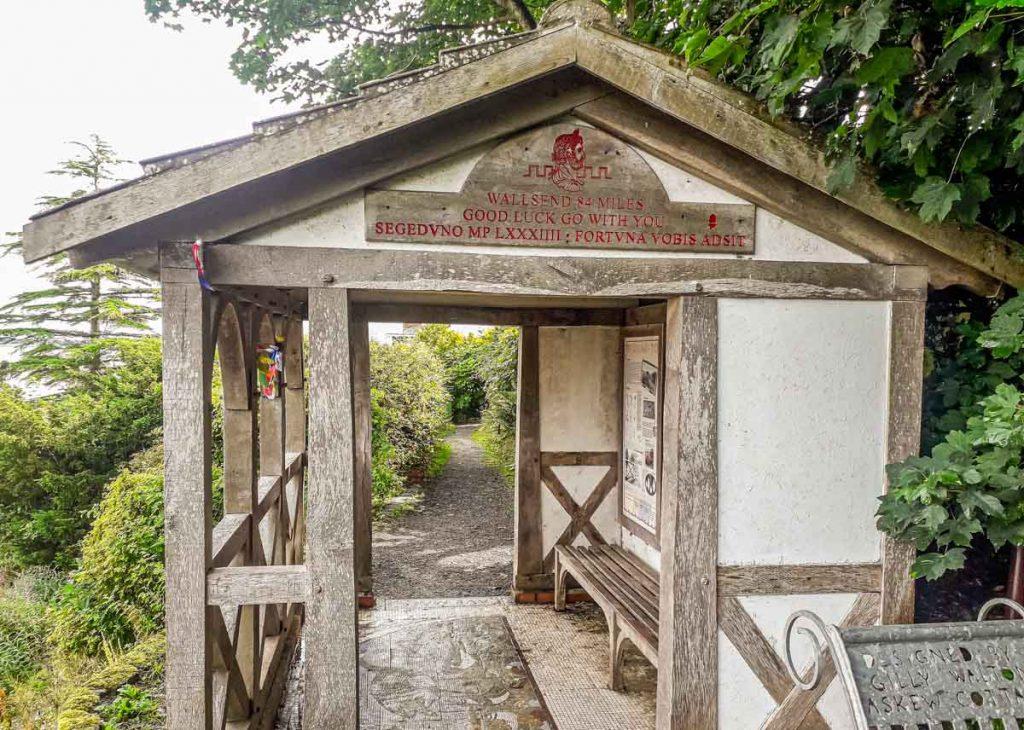 wooden hut hadrians wall