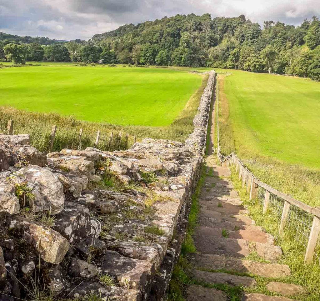 hadrians wall and steps