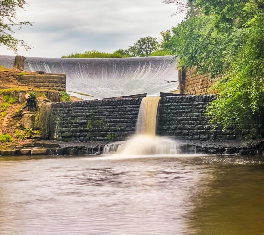 abbeystead dam waterfall