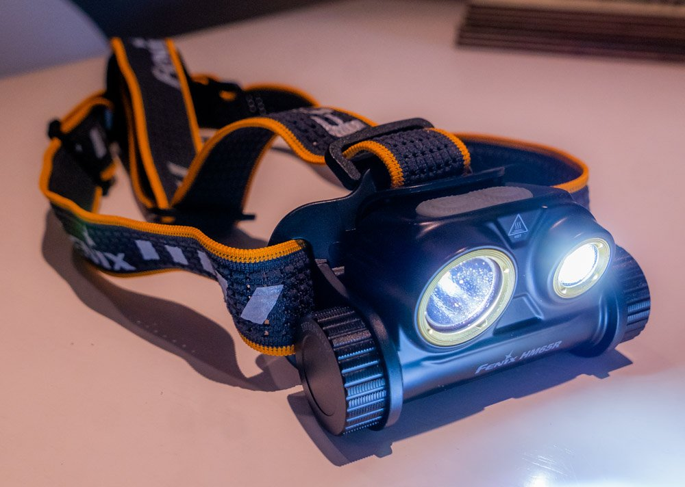 head torch switched on