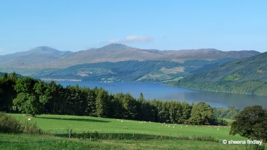 looking over Loch Tay rob roy's way