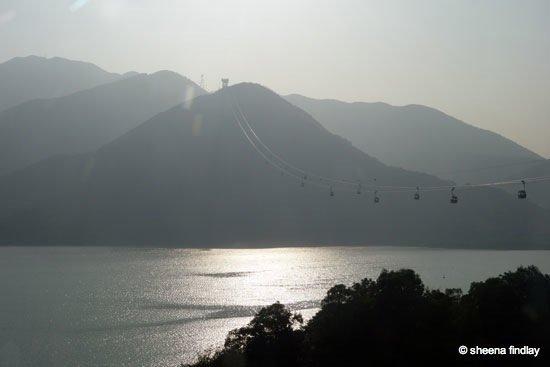 33.-Sun-getting-low-from-the-cable-car Tian Tan Buddha, Hong Kong
