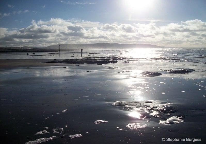 borth beach sun and sand