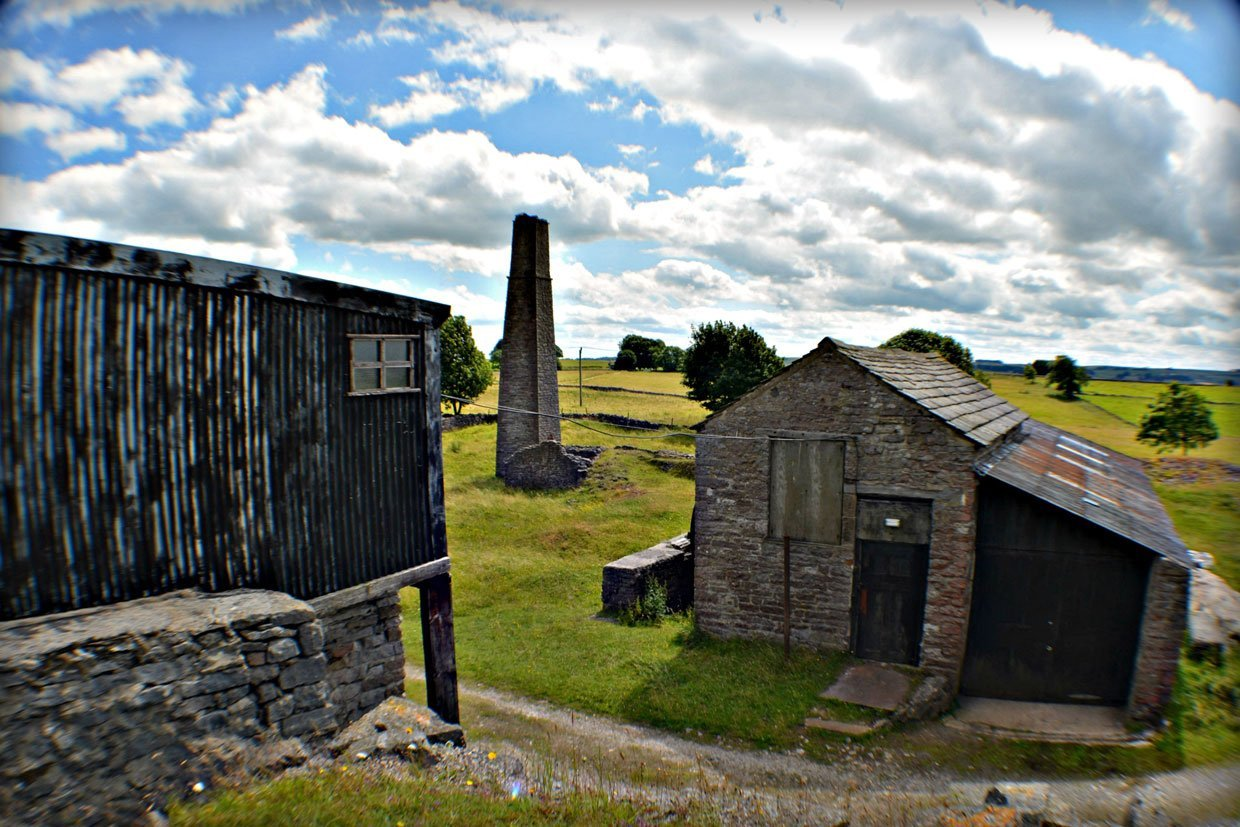 8-Chimney-flue-1950s-corrugated-winding-shed- The Tales of Derbyshire's Magpie Mine