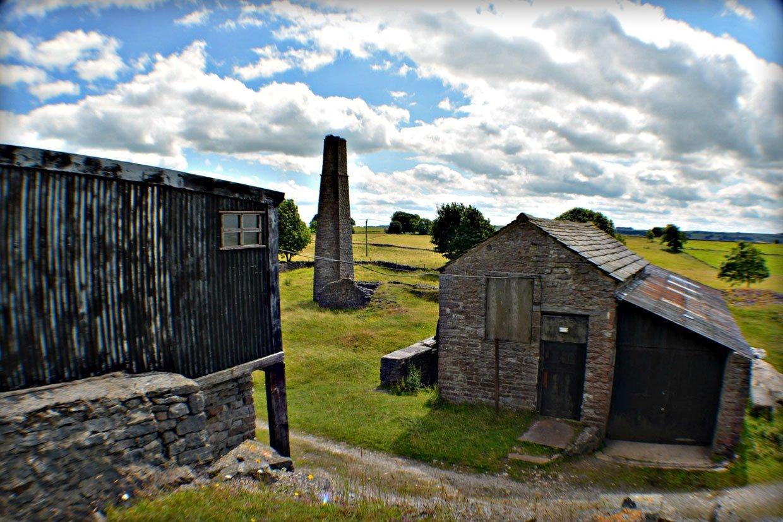 Chimney flue 1950's corrugated-winding shed