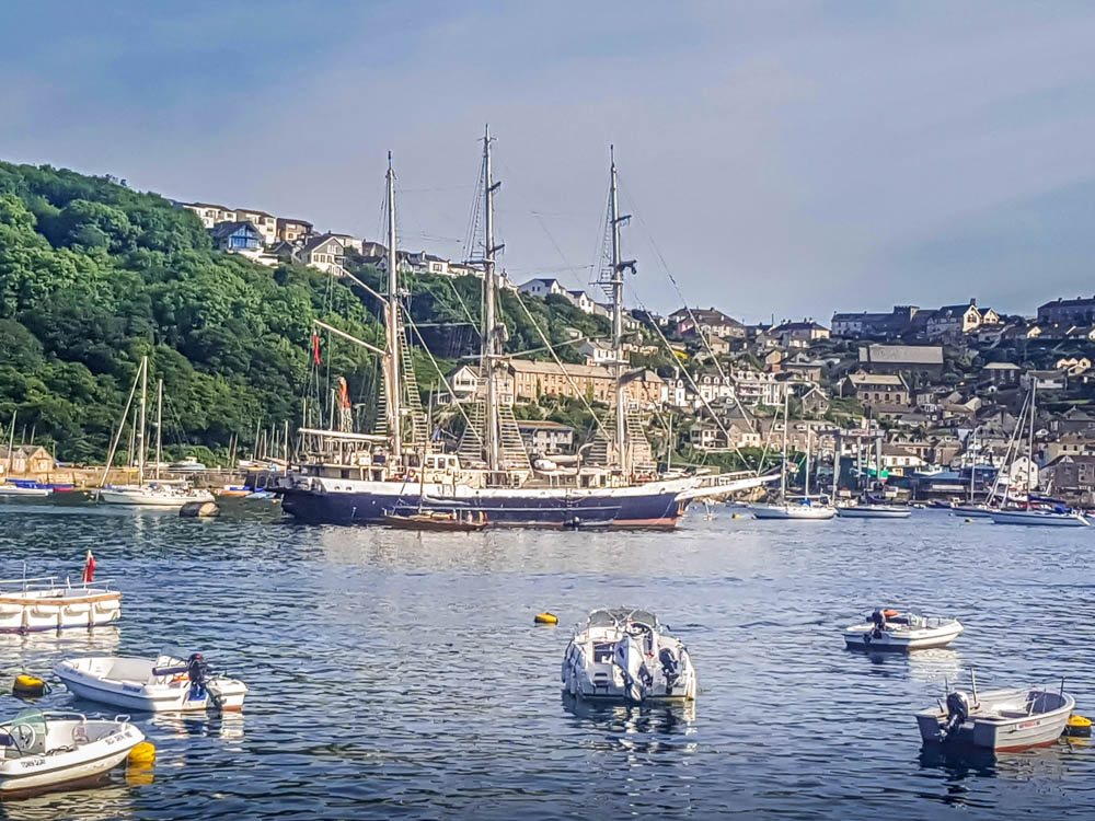 An-estuary-view-small-boats-tall-ship Fowey, a Whistle Stop Tour - a Real Cornish Joy