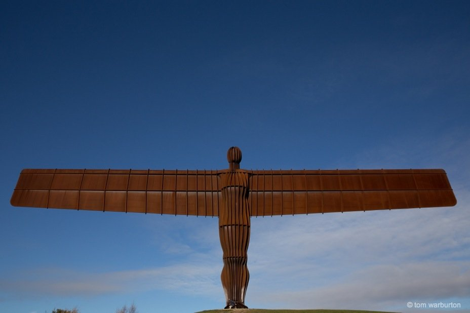 The Angel of the North from the front