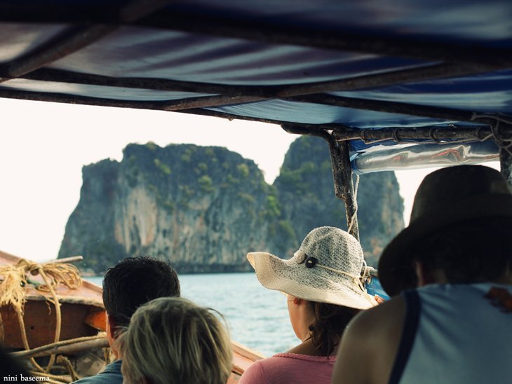 ApproachingEmeraldCave Island Hopping In The Andaman Sea In Thailand
