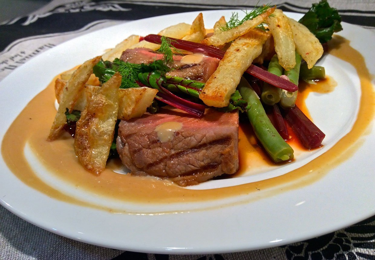 Teriyaki Beef with Beetroot and Beans 1