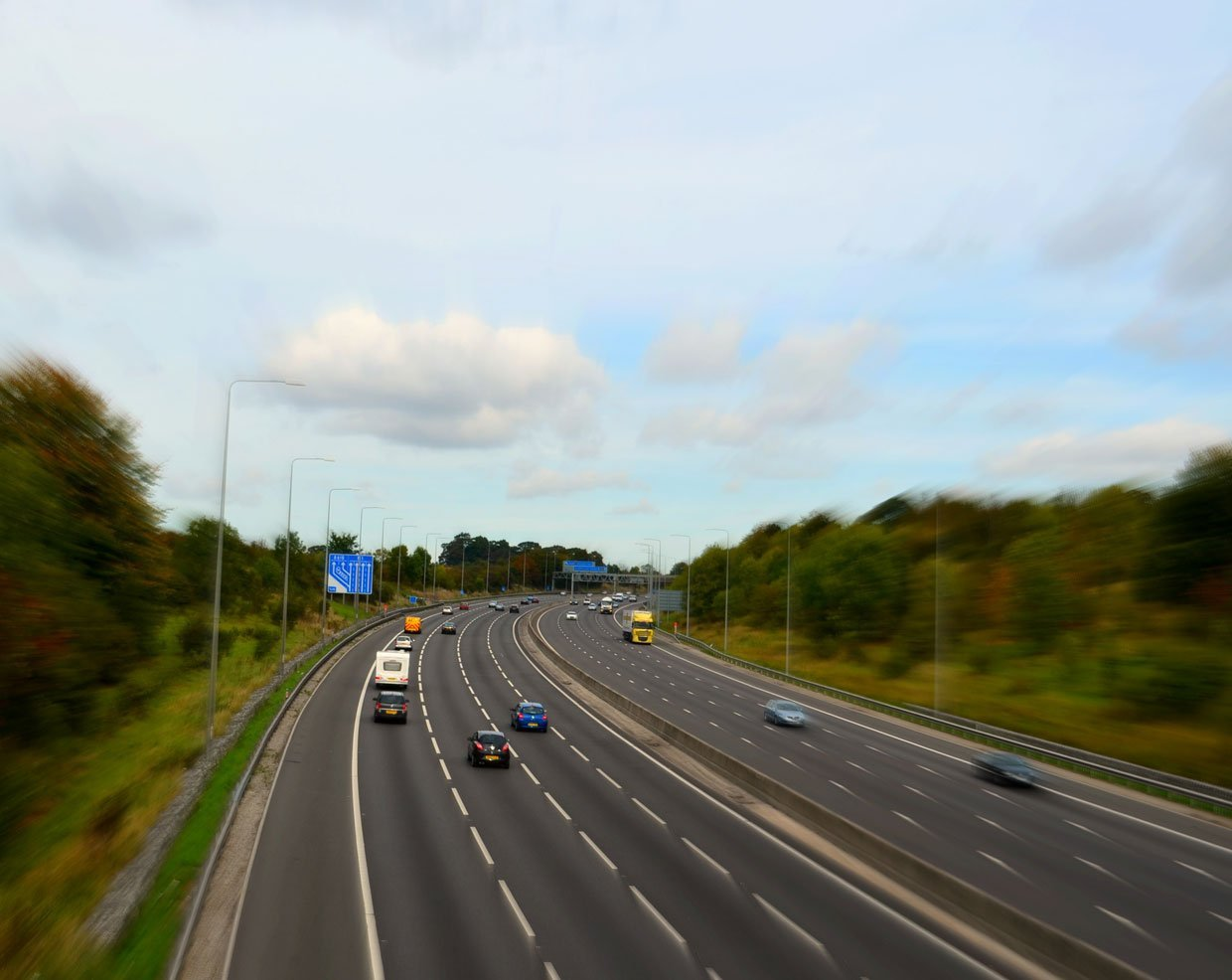 Busy-M1-Motorway1 Strelley Village and Hall, a Nottinghamshire Gem