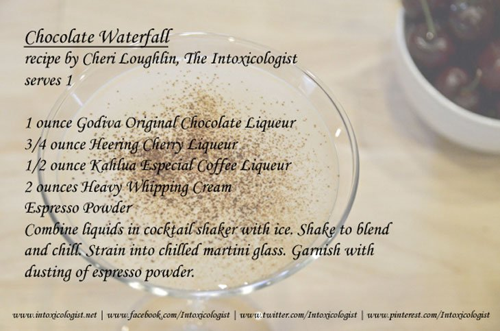Chocolate Waterfall Recipe Card 052 The Chocolate Waterfall   A Delectable Cocktail