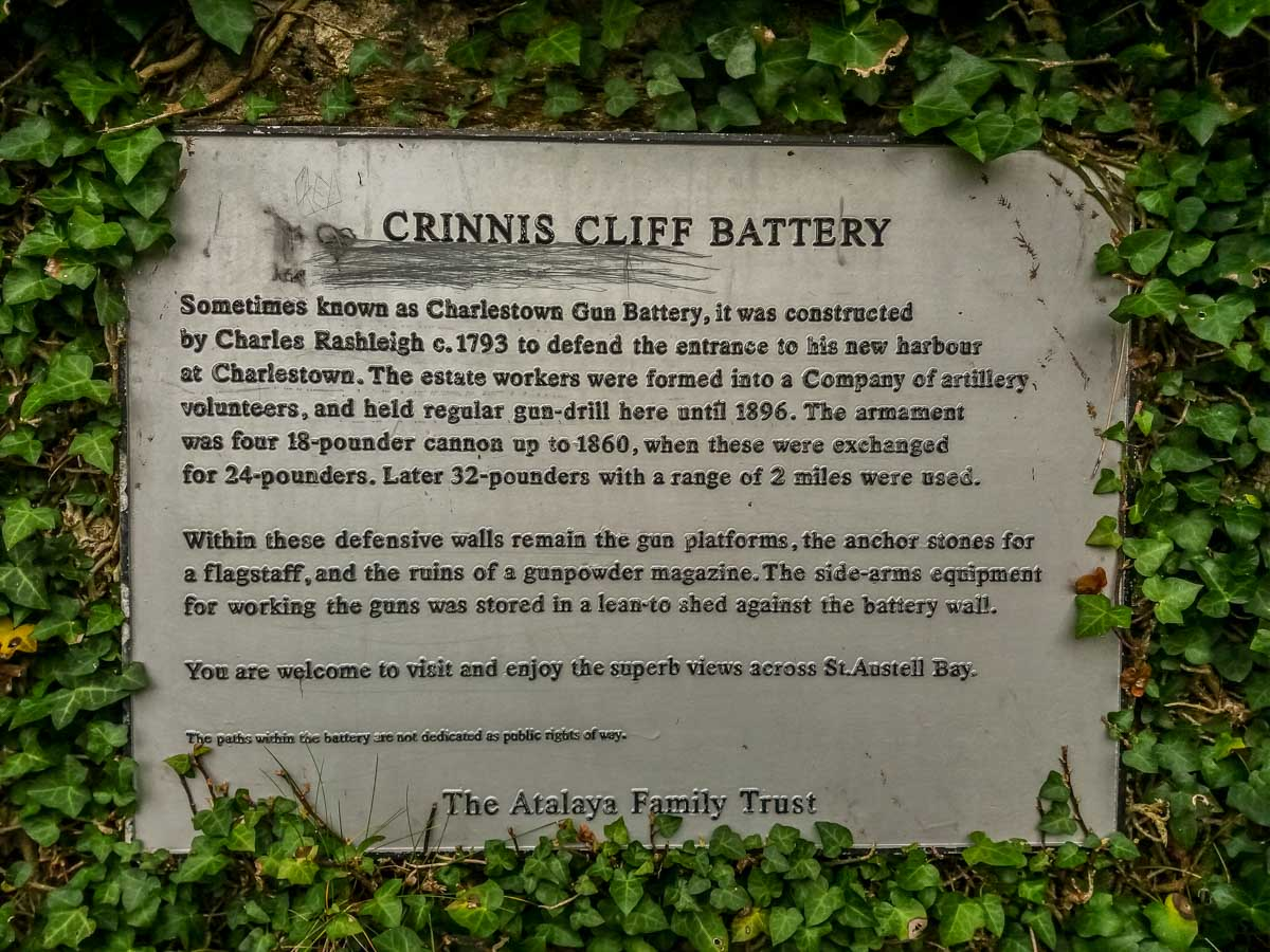 Crinnis-Cliff-Battery Cornwall – Walking the Coastal Path to Charlestown