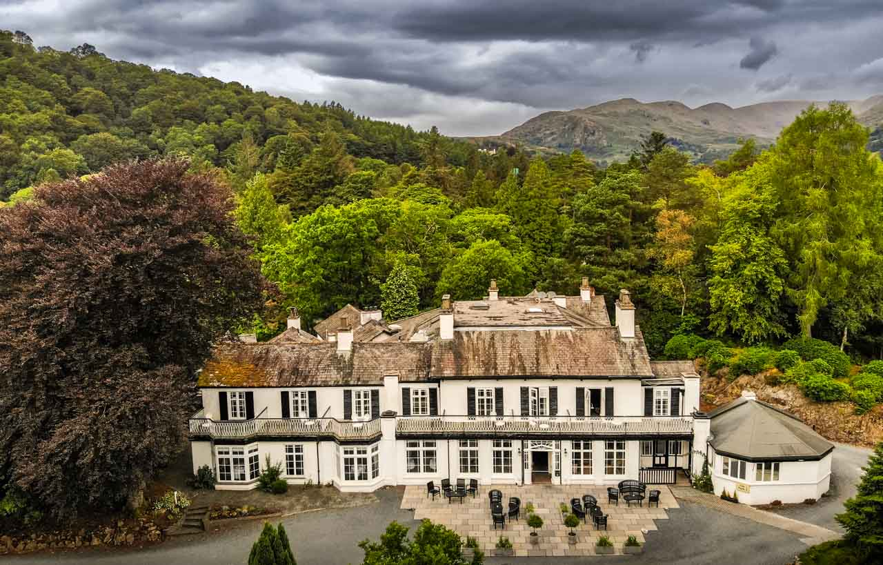 DJI_0027 Luxury and Fine Dining At The Rothay Manor, Ambleside