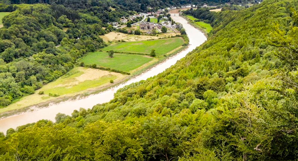 DJI_0127-1 A Walk To Devil's Pulpit, Overlooking Tintern Abbey